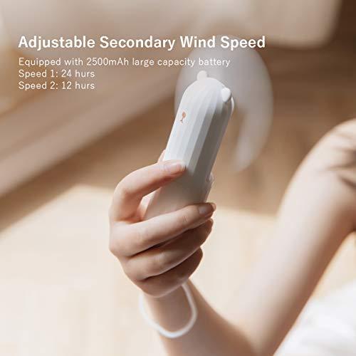 Lahuko Mini Ventilatore USB Portatile Ventilatore Personale Palmare Ventola Piccolo Silenzioso Ventilatore Tascabile Ideale per Ufficio a Casa Viaggiare o Hiking Design a Batteria Litio Ricaricabile