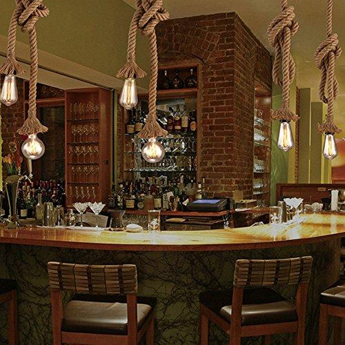 Lampada a sospensione industriale STARRYOL luce a sospensione a doppia testa di canapa per sala da pranzo sala ristorante bar caffetteria  lunghezza 60 cm