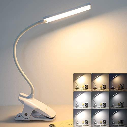 Lampada da lettura 24 LED lampada da lettura ricaricabile lampada LED da ufficio 3 modalit di temperatura di colore e 3 livelli di luminosit