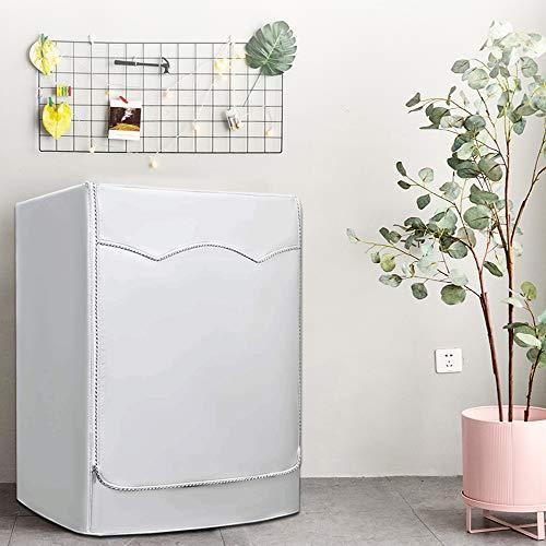 Lavatrice Copertura Argento Esterni Impermeabile Antiultravioletti per di Carica Frontale lavatrici e Asciugatrice Copertura60 x 60 x 85CM Argento