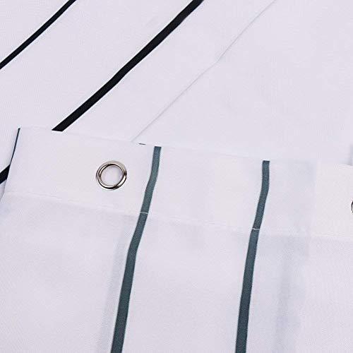 Leashy Tenda da Doccia Design Divertente con Simpatico Gatto Impermeabile antimuffa con Ganci Inclusi Gatto Nero 180x180