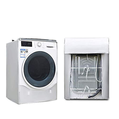 LEESITEC Lavatrice Copertura Argento Esterni Impermeabile Antiultravioletti per di Carica Frontale lavatrici e Asciugatrice Copertura60 x 53 x 85CM Argento