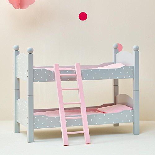 Letto a Castello Legno mobili Bambole 45 cm Gioco Ruolo OliviasWorld TD0095AG