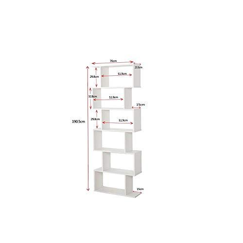 Libreria Scaffale Bianca Ufficio Moderna Contemporanea Bifacciale Divisorio Legno Casa Giorno 70x235x190 Autoportante Mensole Scaffali Cubi Muro Design Ingresso Soggiorno