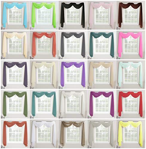 Megachest Mantovana per finestra in voile 26 colori a scelta Poliestere Blu ottanio 57X197145cmX500cm