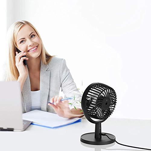 Mini Ventilatore USB da Tavolo a 4 Velocit Portatile Silenzioso Rotazione di 310  Ventola Personale per Casa Ufficio Letto ecc