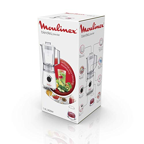 Moulinex Blendeo LM2A0110 Frullatore a Bicchiere 400 W Acciaio Bianco
