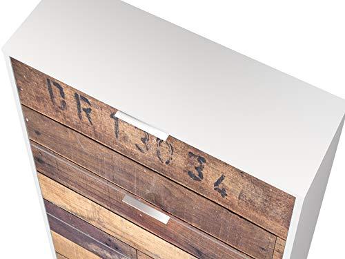 Movian scarpiera a 3 sportelli in stile moderno modello Idro 25 x 75 x 128 cm con stampa