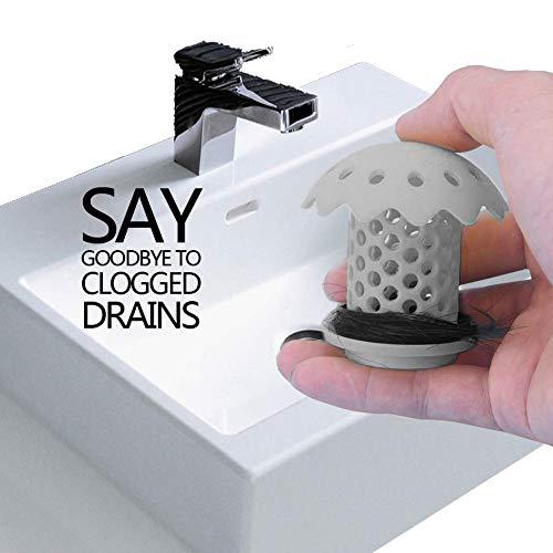 NFACE Filtri Hair Catcher Vasca da bagno Vasca da bagno Scarico Sink Protector Filtro Trappola Blocker Tappo Doccia Plug Filtro Grigio