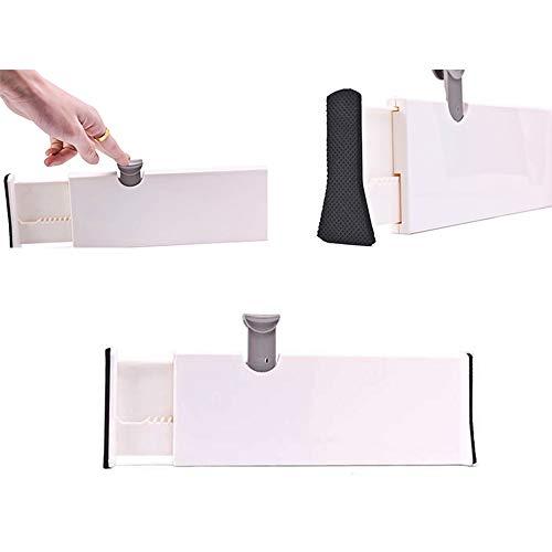 nobrand MINGZE 3 Pezzi Organizzatore per Cassetti Regolabile Divisori Cassetto Divisori DIY Plastica Separatore Ordinato Contenitore per Biancheria Intima Calze Cintura Forniture per Ufficio