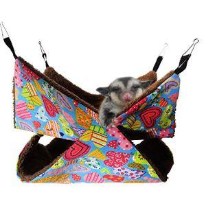 Oncpcare  Amaca a gabbia per animali domestici a castello a forma di gabbia di porcellini dIndia per letto accogliente per pappagallo zucchero furetti scoiattoli criceti ratti addormentati