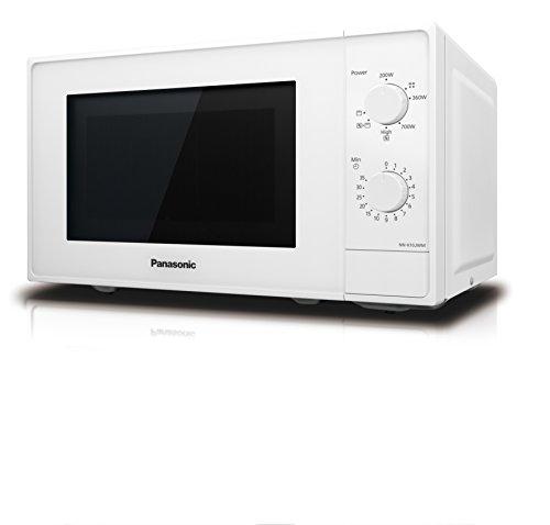 Panasonic NNK10JWMEPG Forno a microonde compatto 20 L 800 W 2 manopole rotanti con quarzo gratinato da 1000 W piatto girevole in vetro 255 mm 5 livelli di regolazione della potenza Bianco
