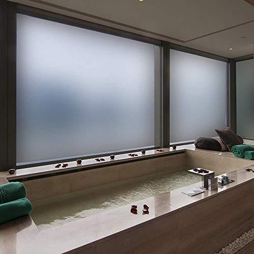 Pellicola per Vetri Finestre Adesiva per Vetro Oscuranti Vetri finestre per Vetri AntiUV Privacy per Ufficio Bagno Camera da Letto Sala di Riunione Bianco 90  200