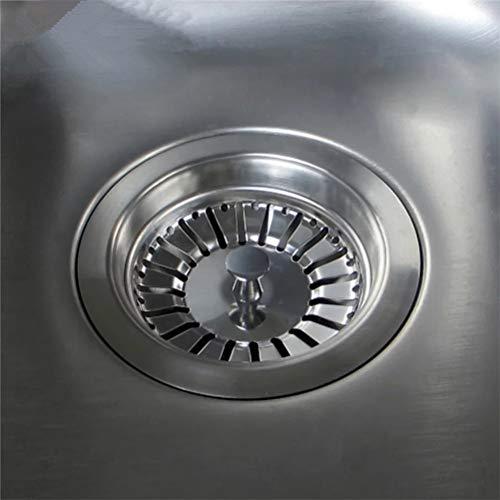 POKIENE Filtro per Lavello 2 Pezzi Filtro per Spina per Lavello da Cucina in Acciaio Inossidabile Tappo per Lavandino Colino da CucinaBagno  Diametro 84 MM