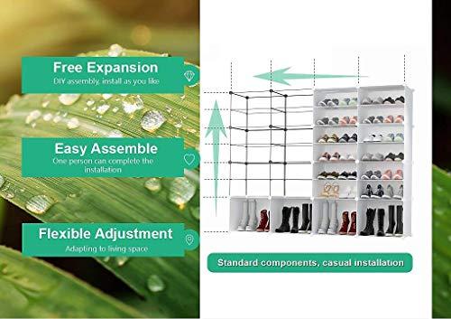 PREMAG Torre per riporre Gli Scarponi Portatili Bianca Scaffale modulare per riporre Gli spazi Scaffale per Scarpe per Scarpe Stivali Pantofole 2  5