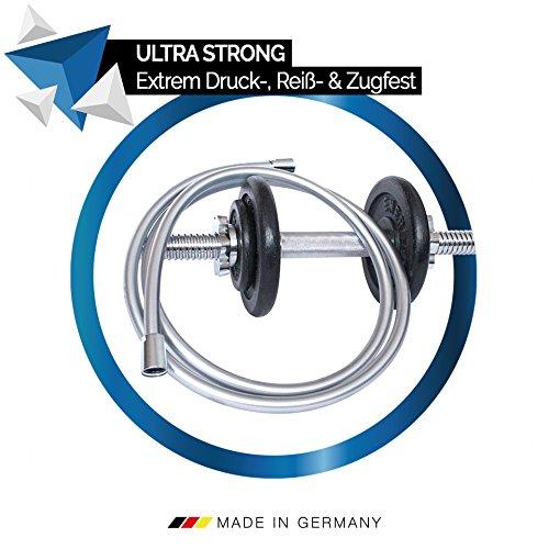 PRISMA Tubo doccia flessibile 160cm Prodotto in Germania tubo per doccia con protezione antitorsione su entrambi i lati attacco universale G12