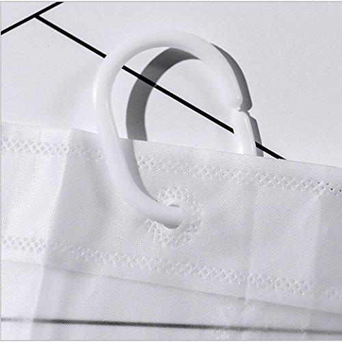 QHShop Tende da DocciaTenda da Bagno in Poliestere Impermeabile AntiMuffa PEVA Accessori da Bagno con Anelli per Il Bagno 180  180cm