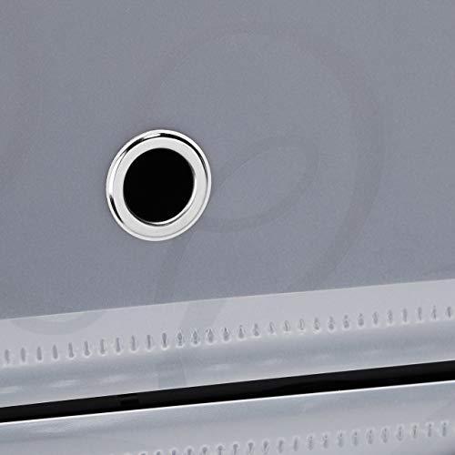 Relaxdays 1002196246 Armadio Scarpiera in Plastica a Incastro Chiuso 6 Scomparti HxLxP 107 x 49 x 37 cm Nero