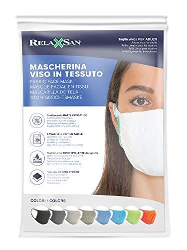 Relaxsan  SET 3 silver Fasce filtranti viso bocca naso lavabili riutilizzabili assorbenti tessuto batteriostatico