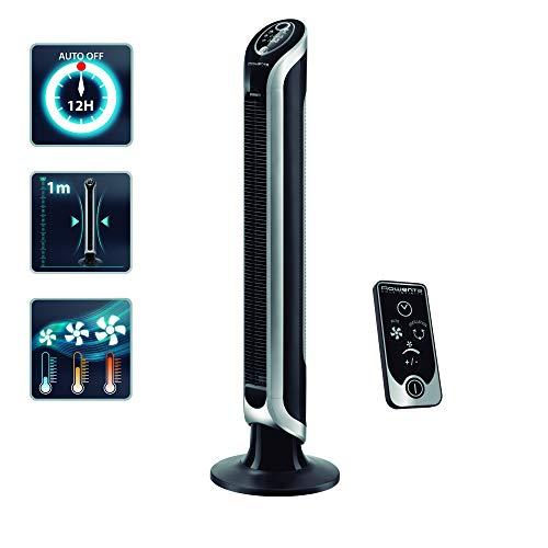 Rowenta VU6670 Ventilatore a Torre Timer fino a 8 ore 3 Velocit Telecomando Spegnimento Automatico Nero