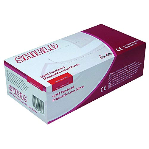 Sconosciuto Generic Shield Guanti USA e Getta Confezione da 100 GD45 White 100 Pack