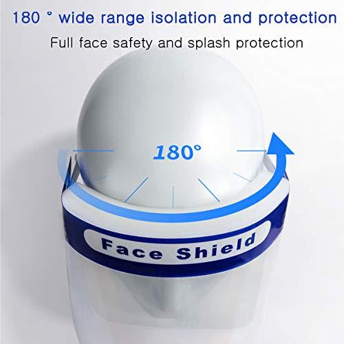 SGODDE 10 Pcs Visiera Protettiva di Sicurezza Visiera Trasparente Regolabile Visiera di Sicurezza Coperchio Antinebbia Proteggi Gli Occhi e Il Viso per Cucina da Laboratorio allaperto