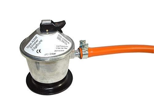 SM 321535 Kit Tubo Omologato Gas Butano da 15 Metri   9 mm con Fascette con Linguetta Arancione