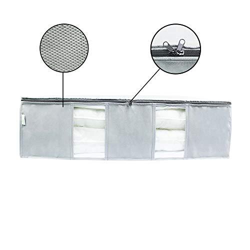 SOHFA Set di 2 cassettoni sotto il letto in tessuto non tessuto traspirante per rivestimenti vestiti o coperte 2 x 90 cm x 50 cm x 25 cm capacit 225 l