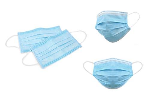 Supa Labs Maschera Medica Non Sterile di Tipo I 3 Strati Confezione da 50 Pezzi