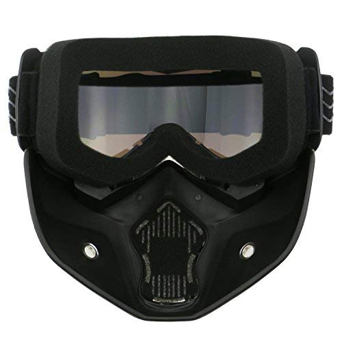 TedGem Moto Goggle Motocross Maschere Moto Occhiali da sole occhiali di protezione antipolvere occhiali rimovibili maschera viso antivento per Outdoor Bicicletta Dirtbike Motocross OffRoad Goggles