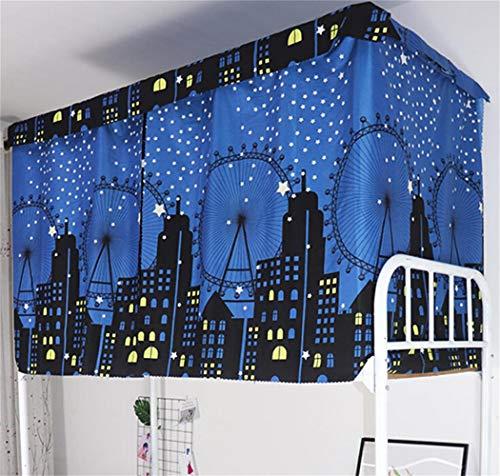 Tenda a baldacchino antipolvere per letto singolo letto a castello dormitori oscuranti zanzariere tenda per letto junior soppalco studenti dormitori