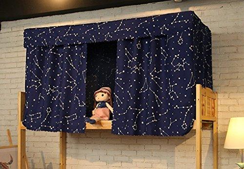 Tenda in tessuto per letto a castello di dormitori e letti a baldacchino tenda oscurante a prova di polvere e zanzare