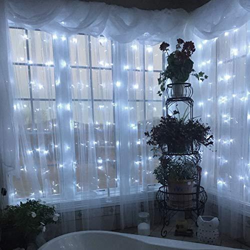 Tenda Luminosa LED Tenda con Catena di Luci 3x3 Impermeabilit IP44 Stelle LED A Catena di Luce Tenda di Luci per Natale Decorazione Feste Interni ed Esterni 8 Modalit