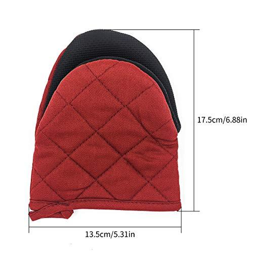 TOPSKY guanti da forno a microonde guanti da forno estremamente resistenti al calore antiscivolo 1 paio Rosso