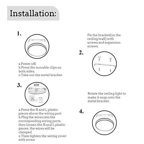 uesen 18W moderno impermeabile LED Lampada a soffitto tondo sottile plafoniera 1650lm Bianco naturale 4000K plafoniere led per Soggiorno Sala da pranzo Camera da letto Bagno Cucina Balcone Corridoio