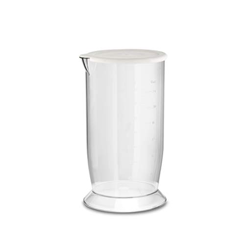 Ufesa BP4562 OptimaFrullatore ad Immersione Minipimer Funzione Turbo 4 Lame Alto rendimento Accessori Inclusi Design antischizzo BPA Free 800 W Bianco e Grigio