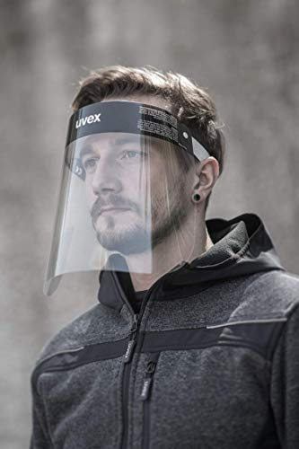 uvex 9710 Visiera Protettiva Trasparente  Maschera di Sicurezza  Monouso  Chiara  per Uomo e Donna