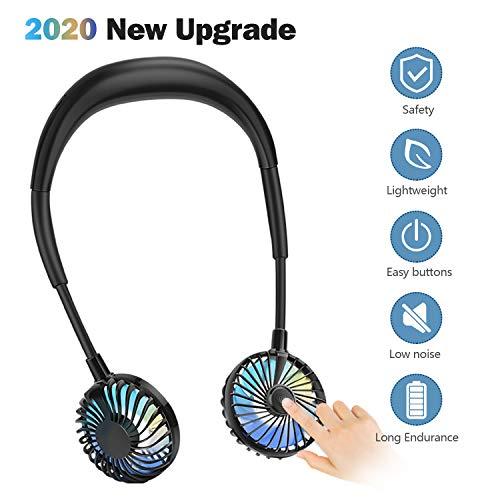 Ventilatore Portatile CENXINY 2000mAh Ventilatore USB Ventilatore nudo con 3 velocit Ventilatore personale regolabile a 360  a LED per Casa Viaggio Sport allaperto
