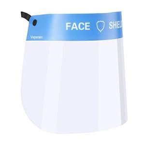 Veperain Visiera Protettiva Maschera Protettiva Trasparente Antigoccia Con Protezione AntipolvereProtettiva Trasparente in PET Protezione antiappannamento a Prova di Saliva per la Cucina di casa