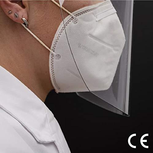 Visiera Protettiva di Sicurezza Visiera Protettiva Certificata Trasparente Anti Appanamento Droplets Protegge Gli Occhi e Il Viso da Laboratorio Medica Face Shieldinder 10