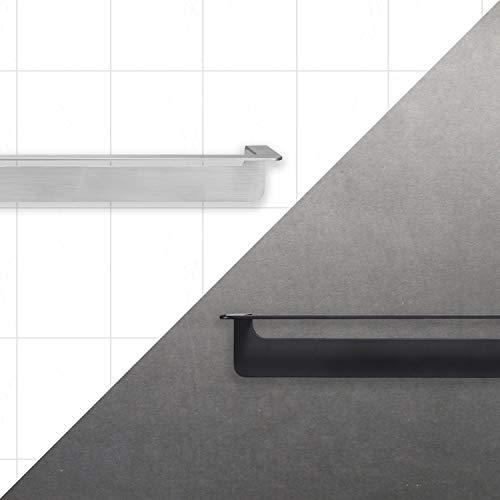 WEISSENSTEIN Porta asciugamani adesivo bagno 30 cm da parete  Portasciugamani lavabo Acciaio inox argento