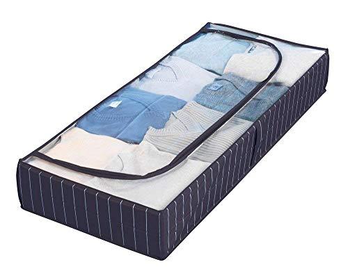 Wenko 4380440100  Contenitore sottoletto Comfort in plastica PEVA Blu Blu 105 x 15 x 45 cm 1 pezzo