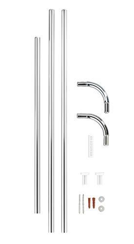 Wenko Barra ad Angolo Universal Diverse Lunghezze  2 cm Alluminio Materiale Plastico 2 x 2 cm Cromo