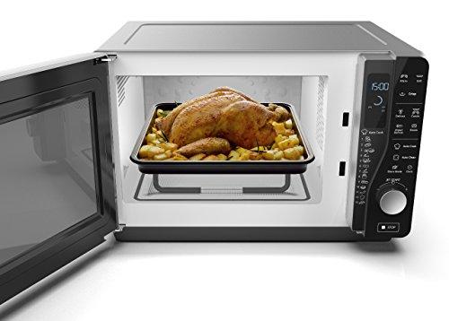 Whirlpool MWF 427 SL Forno a Microonde Extra Space  Grill 25 Litri argento con Steamer griglia alta e piatto Crisp  maniglia 800  1000 W