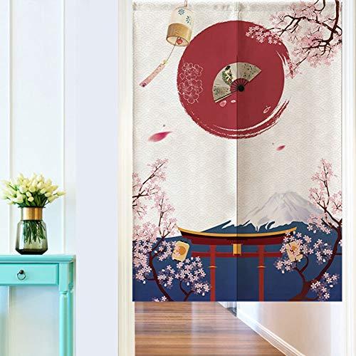 Wifehelper Divisorio Stile Giapponese Divisorio Mezzaluna Tende per Bambini Camera Camera Cucina Negozio Ristorante 85  120cm
