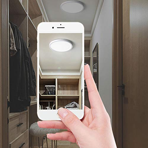 Yafido LED Plafoniera 18W Ultra Magro UFO Pannello LED Tonda Bianco Bianca Naturale 4000K 1620LM Lampada da Soffitto per Soggiorno Camera da letto Bagno Cucina Corridoio e Balcone 18cm