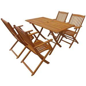 Sedie con Tavolo in Legno per Esterni