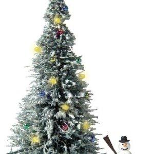 Busch 5409  Albero di Natale con Pupazzo di Neve