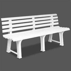 Ipae 9693810 Panchina Resina 145 x 49 x 74 Bianco