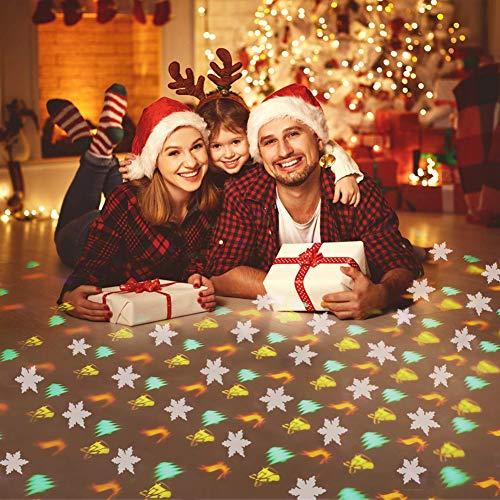 IREGRO Luci per Proiettore di Natale 4 Motivi Sporgenti con Telecomando